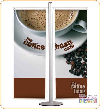 Banner set poster hangers silver 400 mm sign