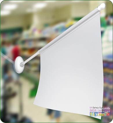 Display Flag 430 x 355 x 560 mm no graphic sign