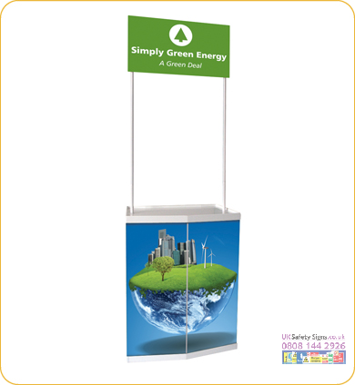 Large promo stand with bag no graphic sign