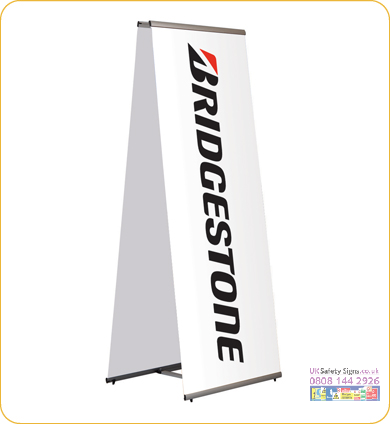 Quick banner double sided 1000 x 1970 mm sign