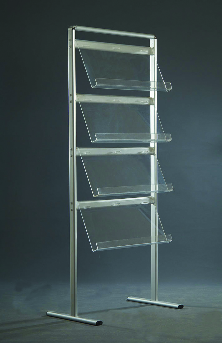 Brochure display units single sided freestanding 8 x 4ft with 2 x A4 sign