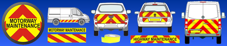 UK safety Chevrons reflective chevrons for vehicle transporting hazardous goods
