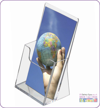 Leaflet dispensers 1/3 A4 no graphics sign
