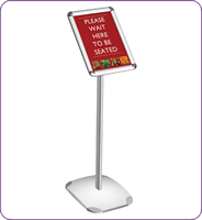 A4 landscape / portrait decorative menu board silver anodised sign