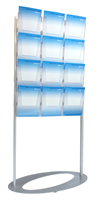 Large oval brochure island stand 16x A4 sign