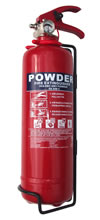 Small 1kg dry powder lightweight fire extinguisher for domestic. Ideal to keep in your car, caravan or boat. sign