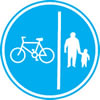 Cycle lane signage
