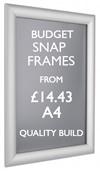 A4 budget snap frame. Quality A4 poster frames. sign.