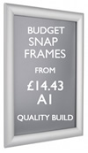 A1 snap frame. Quality poster frames. sign.