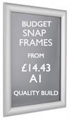 A1 snap frame. Quality poster frames. sign.