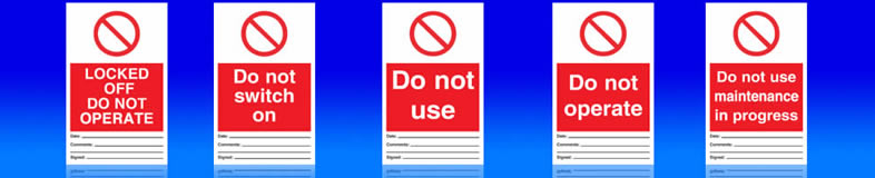 UK electrical signs, labels and stickers