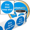 Fire door labels.