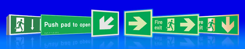 fire exit lights and replacement panel suppliers UK