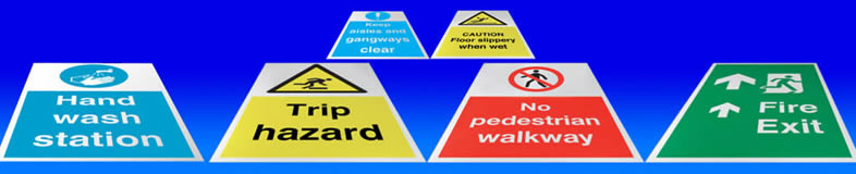 Floor graphics fork lift stickers and graphic suppliers for Floor labels
