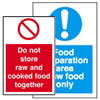 Food preperation labels.