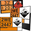Hazardous gas signs.