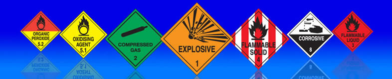 UK hazchem signs, labels and stickers for transporting hazardous goods