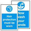 Hygiene labels.