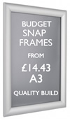 A3 poster snap frame. Quality poster frames. sign.