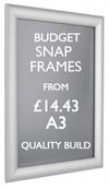 A3 poster snap frame. Quality poster frames. sign.