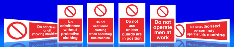 machinery guards must be used signs, labels and stickers