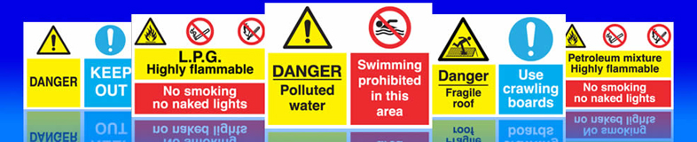 Multi purpose signs highly flammable no naked lights petrol forecout signs