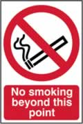 No smoking beyond this point - CLG 200 x 300mm sign