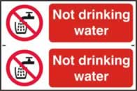 Not drinking water - 1mm rigid pvc 300 x 200 mm sign