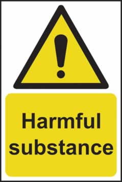 Harmful substance - rigid plastic sign - 200 x 300mm sign