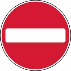 600 mm diameter Dibond No Entry Road Sign with channel made from Aluminum Composite sign