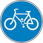 600 mm diameter Dibond Cyclist s only Road Sign without channel made from Aluminum Composite sign
