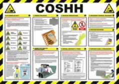 Safety Poster - COSHH Laminated Poster sign