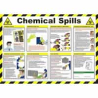 Safety Poster - Chemical Spills Laminated Poster sign
