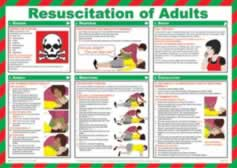 Safety Poster - Resuscitation of Adults Laminated Poster sign