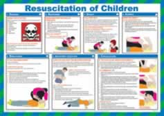 Safety Poster - Resuscitation of Children Laminated Poster sign