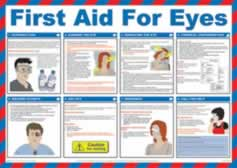 Safety Poster - First Aid for Eyes Laminated Poster sign