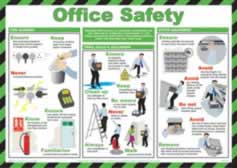 Safety Poster - Office Safety Laminated Poster sign