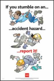 RoSPA Safety Poster - If you stumble on an accident Paper Laminated Poster sign