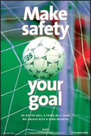 RoSPA Safety Poster - Make safety your goal Laminated Laminated Poster sign