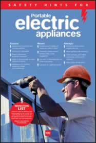 RoSPA Safety Poster - Portable electrical appliances Paper made from Laminated Poster sign