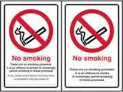 No smoking Double Sided - SA D / S 100 x 150mm sign
