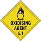 Oxidising Agent 5.1 - s/a vinyl - Diamond 100 x 100mm sign