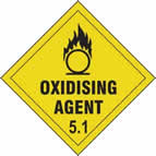 Oxidising Agent 5.1 - s/a vinyl - Diamond 200 x 200mm sign