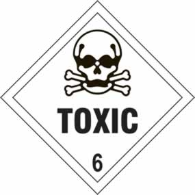 Toxic 6 - s/a vinyl - Diamond 100 x 100mm sign