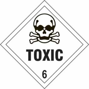 Toxic 6 - s/a vinyl - Diamond 200 x 200mm sign