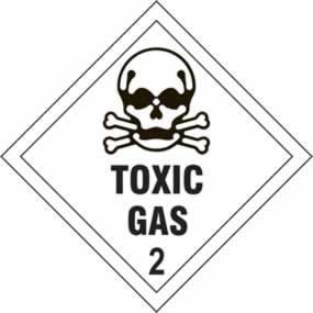 Toxic Gas 2 - s/a vinyl - Diamond 100 x 100mm sign