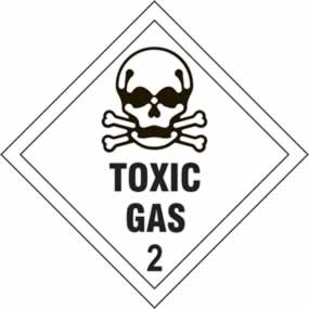 Toxic Gas 2 - s/a vinyl - Diamond 200 x 200mm sign