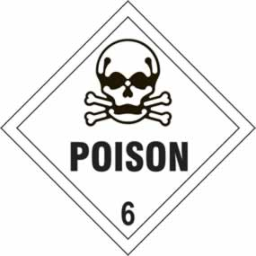 Poison 6 - s/a vinyl - Diamond 100 x 100mm sign