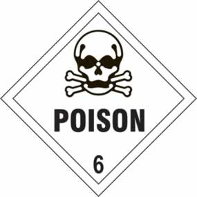 Poison 6 - s/a vinyl - Diamond 200 x 200mm sign