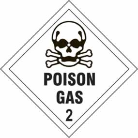 Poison Gas 2 - s/a vinyl - Diamond 100 x 100mm sign